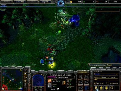 Dota Allstars Shendelzare Silkwood, the Vengeful Spirit game screentshot