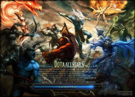Dota Allstars Loading screen art